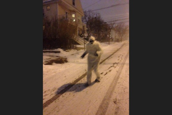 New yorkers! Be warned of Yeti, the snow beast!@