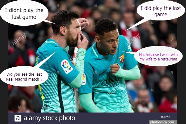Conversation of Messi and Neymar Jr