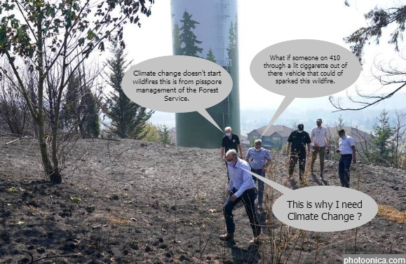 Gov. Insless at the Sumner grade fire Site