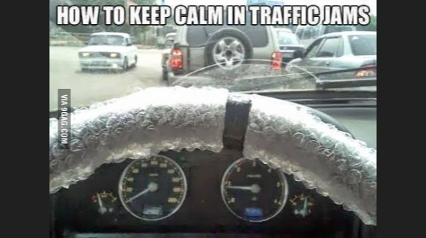 Awesome way to beat traffic jams!