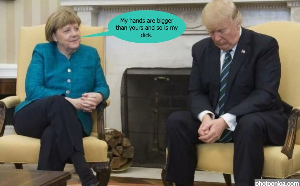 The Trump-Merkel meeting