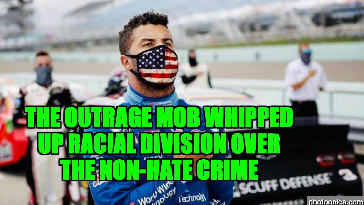 outrage mob whipped up racial division