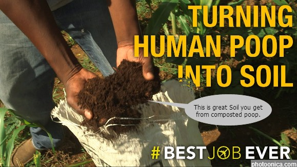 Humanure Composted Human Poop.